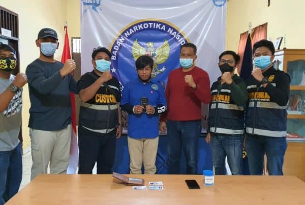 BNNP Kaltim - Dari tangan ND petugas BNNK Bontang mengamankan paket 1 ( saru ) paket Narkotika jenis tembakau sintetis/gorilla dengan berat total 4,1 Gram / Brutto,