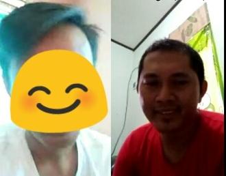 BNNP Kalimantan Timur - Dengan menggunakan pendampingan melalui video call via whatsAap dalam rangka work from home (wfh) kepada Agen Pemulihan Hery Prasitya melaksanakan pemantauan ke-3 terhadap 3 (tiga) orang klien berinisial FH, RD Dan ZQ