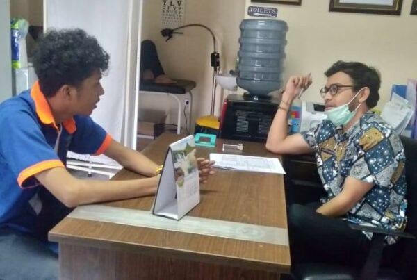 BNNP Kalimantan Timur - lakukan kegiatan asesmen dan screening covid-19 terhadap 1 orang klien limpahan dari Bidang Pemberantasan BNNP Kaltim, Berinisial FM usia 23 th