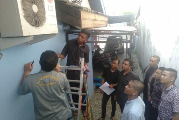 BNNP Kaltim - Rumah damping Borneo BNNP Kaltim Bekali Korban Narkoba dengan meberikan Pelatihan perbaikan AC .