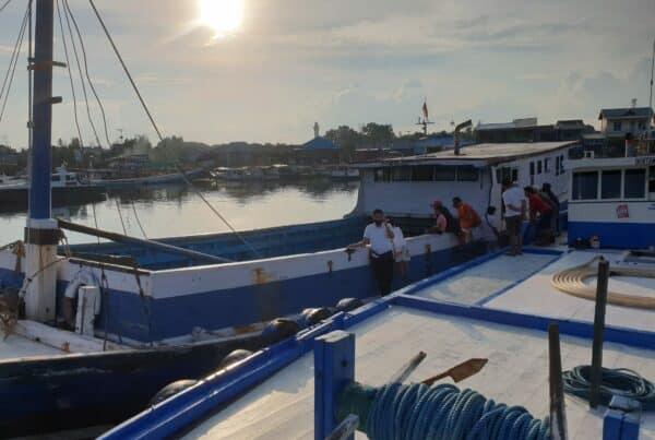 BNNP Kalimantan Timur - Amankan Kapal Laut KLM RAHMI JAYA IV GT 55 di perairan laut kota bontang di duga terlibat Dalam jaringn narkoba antar Pulau