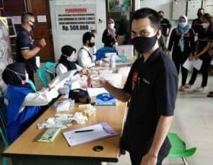 BNNP Kalimantan Timur – 108 Pegawai Di Lingkungan PT. Nuansa Darma Cipta Samarinda Menjalani Tes Urine,