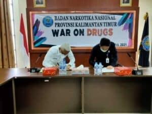 Badan POM Samarinda Dan BNNP Kalimantan Timur Sepakat Melakukan Kerja Sama Terkait Pemeriksaan Narkotika Dan Prekusor Narkotika Dalam Rangka Penyelidikan Dan Penyidikan Kasus Narkotika Dan Prekusornya